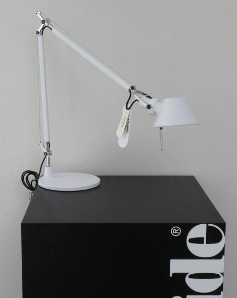 artemide tolomeo weiss tavolo original delucchi neuovp ebay. Black Bedroom Furniture Sets. Home Design Ideas