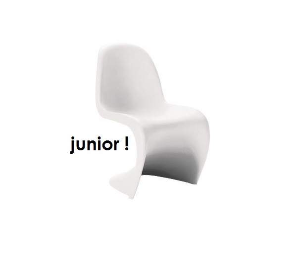 vitra panton chair junior weiss verner panton das original. Black Bedroom Furniture Sets. Home Design Ideas