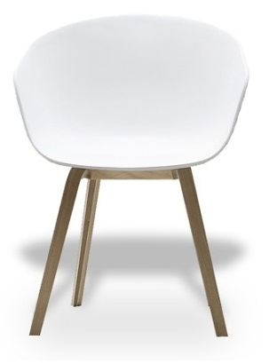 Hay about a chair hay schalenstuhl aac 22 weiss design hee for Eames schalenstuhl